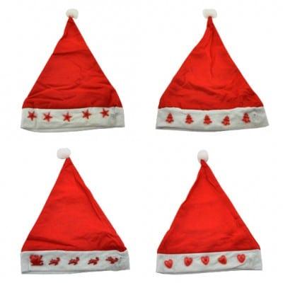 kerstmuts met lichtjes-partijcentrale